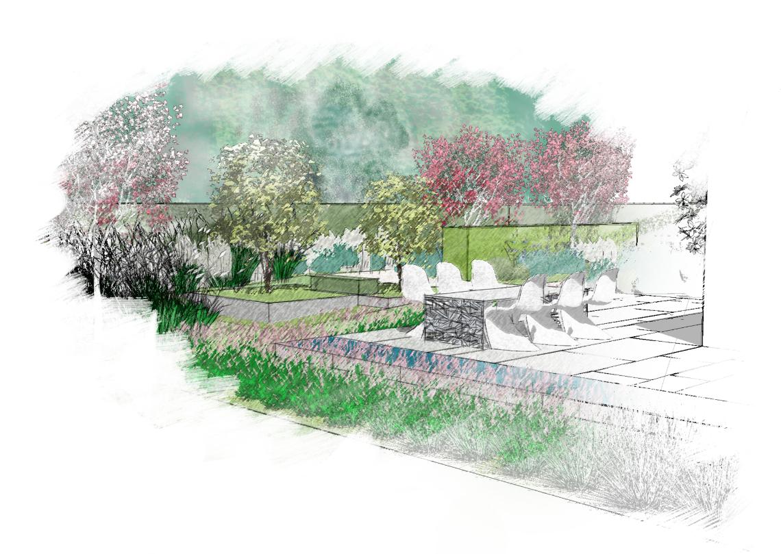 Rural garden design portfolio rosalind millar for Rural garden designs